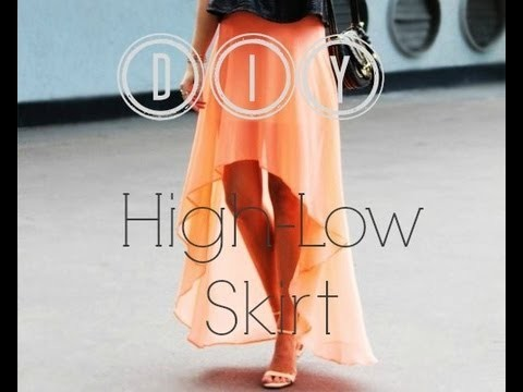 DIY Couture High Low Skirt