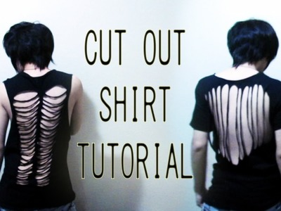 DIY Cut out shirt tutorial (Back to School)