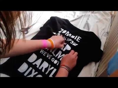 DIY: Daryl Dixon KEEP CALM T-Shirt Tutorial