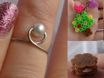 DIY Easy Wire Ring + Melted Beads