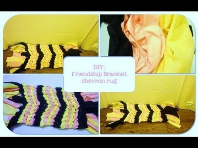 DIY Friendship Bracelet Chevron Rug. HowTo Make A Mat in 5 mins EASY!