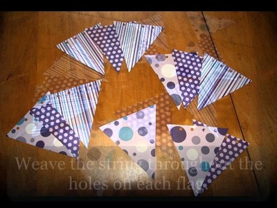 DIY: How to make an EASY Paper Pennant Banner FREE PATTERNS hipknitized.com