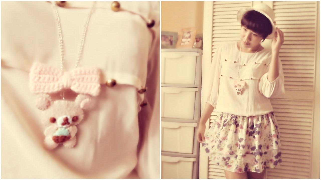 DIY Korilakkuma Beanie Baby Necklace : Fashion Tutorial