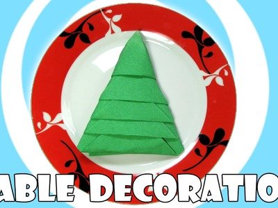 DIY: Napkins Christmas Tree (Table Decoration)