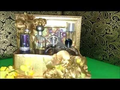 DIY PERFUME & VANITY  HOLDER. RECYCLING OLD  FRAMES