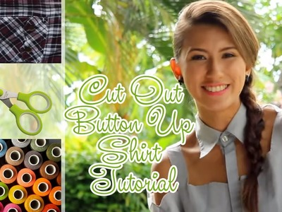 DIY: Renovate Your Old Polo Shirt - Cut Out Button Up Shirt Tutorial