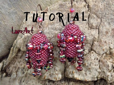 DIY TUTORIAL: orecchini Bangladesh P 2. Bangladesh earrings P 2  (bead work)
