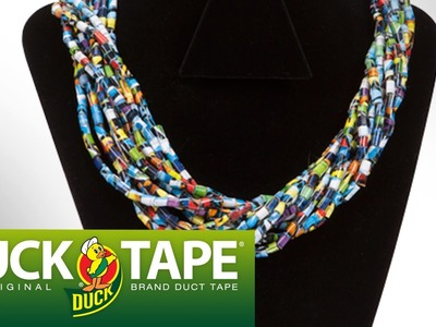 Duck Tape Crafts: How to Make a Duct Tape Beaded Necklace with Mr.Kate