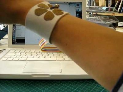Fabric and Bead Tilt Sensing Bracelet