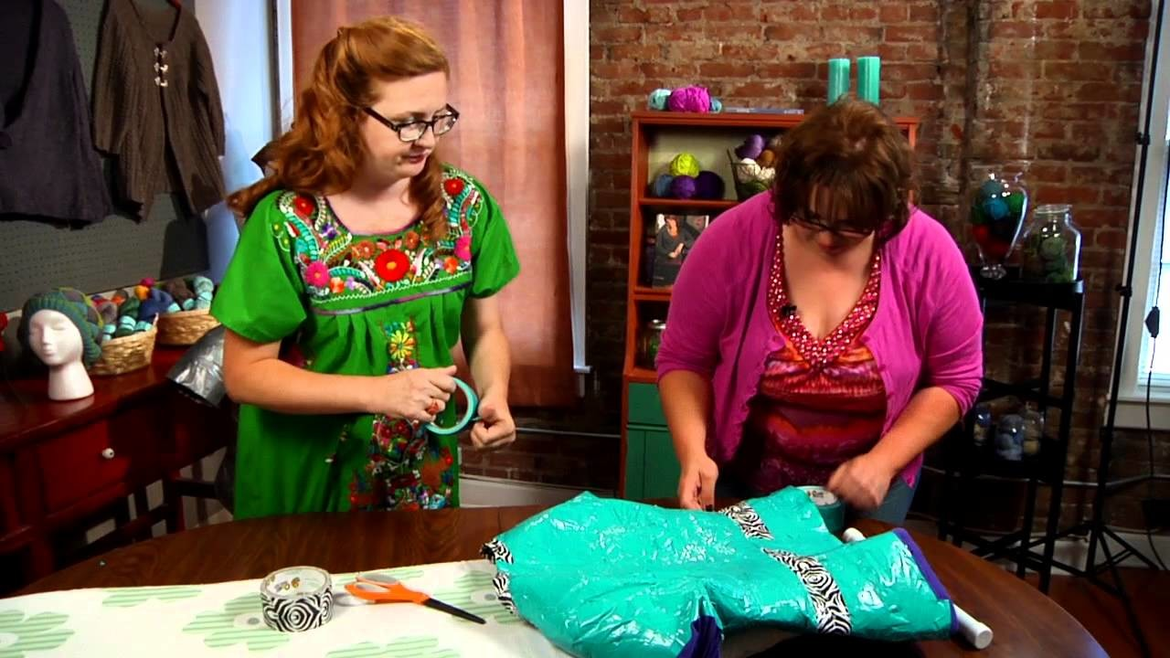 How To: Create a Duct Tape Dress Form for Crochet Projects with Marly Bird