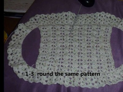 How to crochet a simple BOLERO.SHRUG for children with step by step method