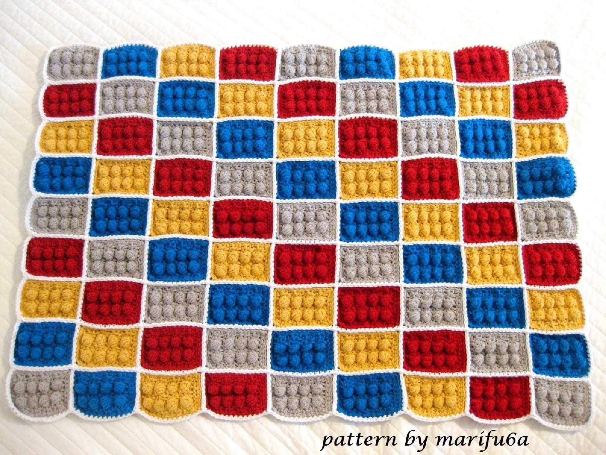 How to crochet lego blanket free pattern tutorial haga ganchillo lego