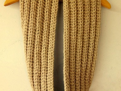 How to crochet ribbed infinity scarf