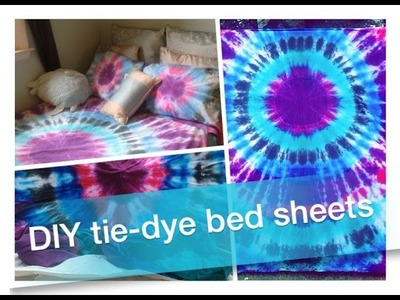 How To DIY: Tie-Dye Bed Sheets & Pillowcases!!