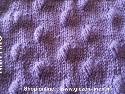 How to Knit Marques Bobble Stitches
