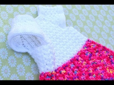 How to Knit Mock Cables Baby Dress Part 3
