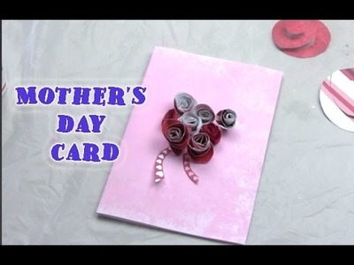 How to make 3d flower card Mother's Day cards for kids with flowers greeting cards making tutorials