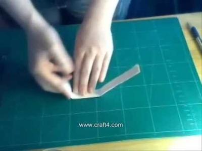 How To Make A 3D Birthday Card: craft4.com tutorial