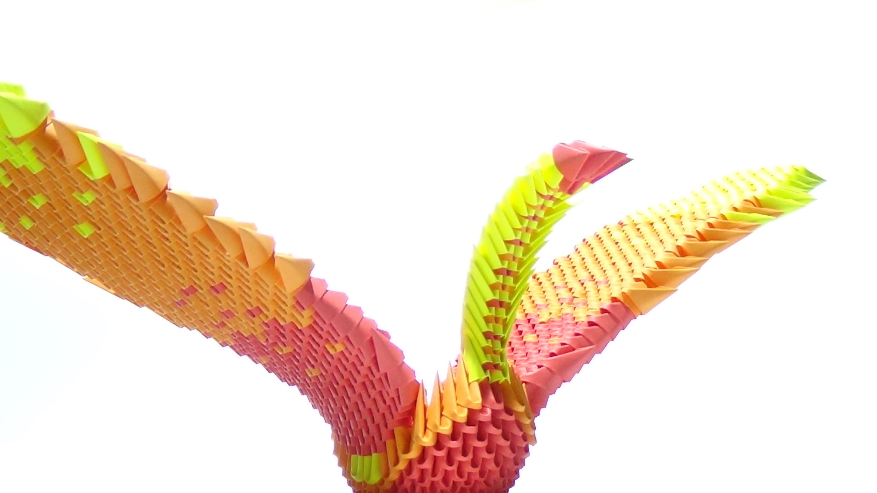 How To Make a 3D Origami Phoenix
