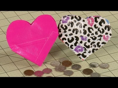 How To Make A Heart Duct Tape Coin Purse
