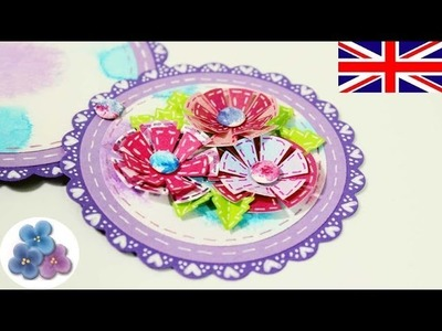 How to make a Telescopic Card with Paper Flowers Moher's Day Invitation Card Making Mathie