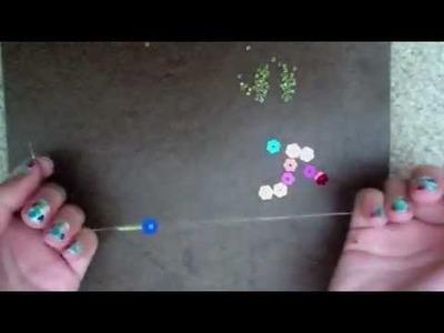 How to make beaded bracelets: beaded sequin flower bracelet
