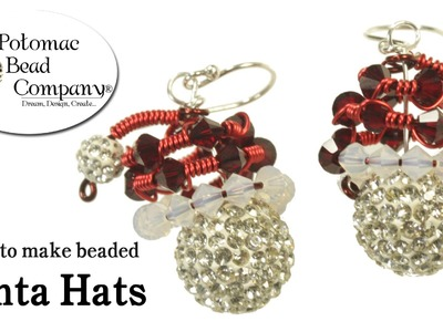 How to Make Beaded Santa Hats