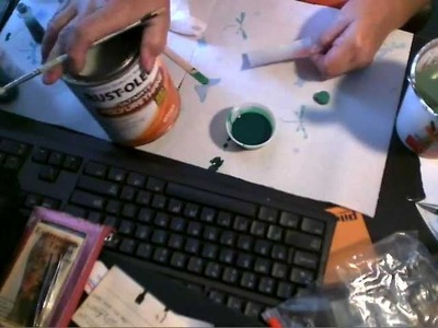 How to make clear tinted glaze for Soda Can Crafts