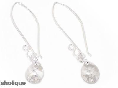 How to Make Easy SWAROVSKI ELEMENTS Crystal Earrings