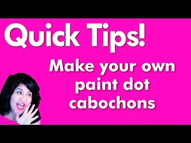 How to make faux enamel dots