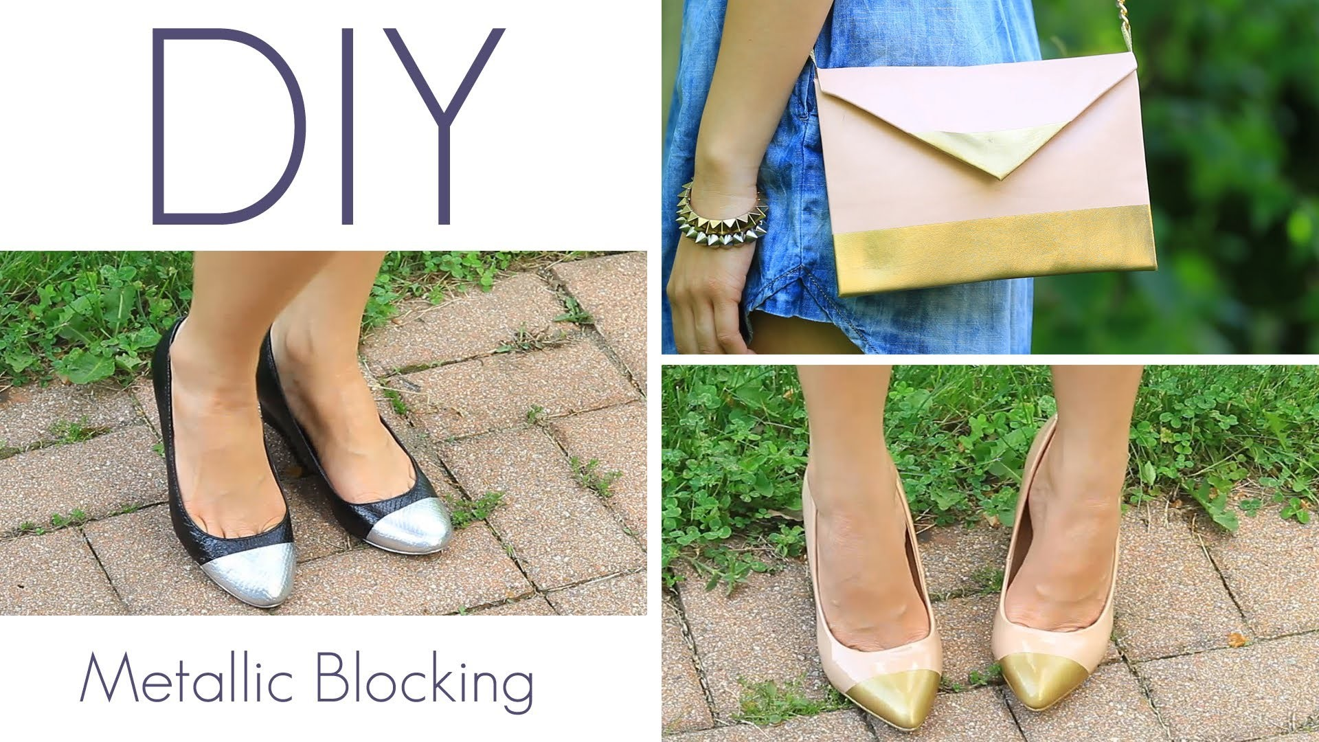 How to Make Metallic Blocking Metal Cap Toe Shoe Look {DIY}