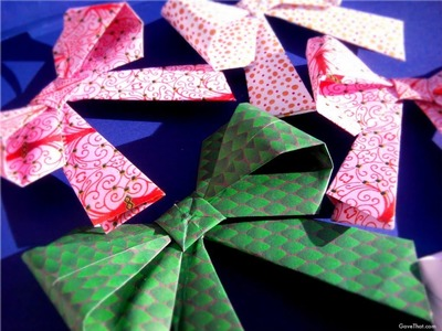 How To: Origami Paper Gift Bows