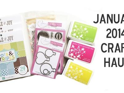 January 2014 Craft Haul by Pretty Pink Posh