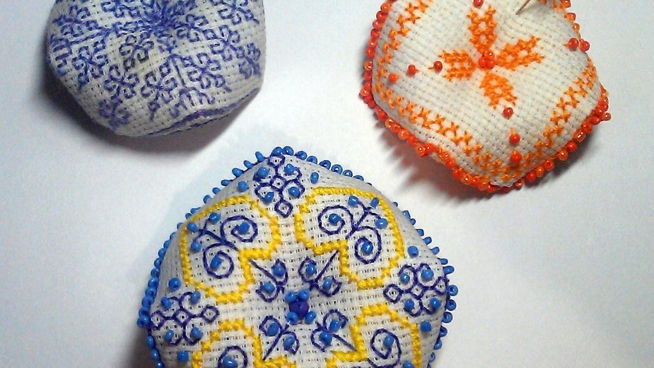 Make a Pretty Embroidered Biscornu Ornament - DIY Crafts - Guidecentral