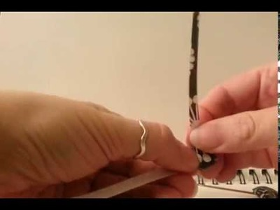 Making of a Pillow Paper Bead (Square Bead)