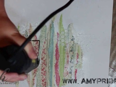 Mixed Media Scrapbook Background Tutorial with Amy Prior