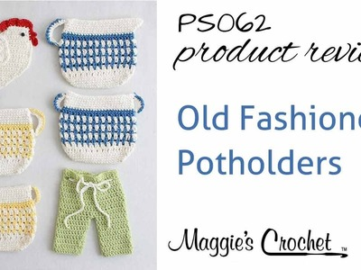 Old Fashioned Potholders Set 2 Crochet Pattern Product Review PS062