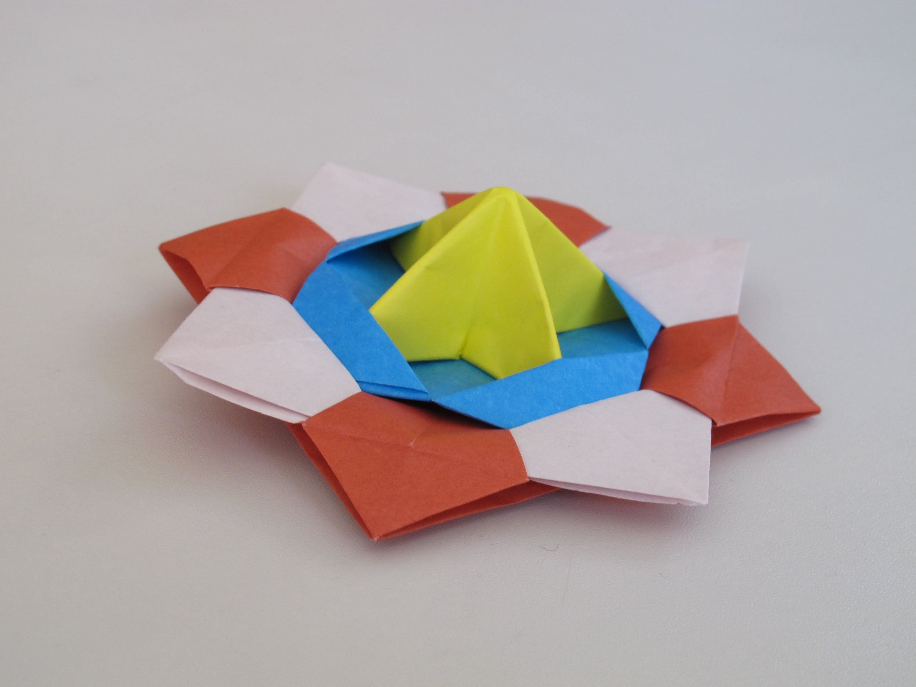 Origami - How to Make a Spinning Top