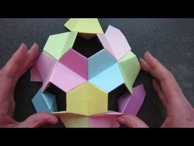 Origami - kusudama - little turtle - tutorial - dutchpapergirl