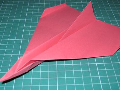 Origami tutorial paper airplane glider that flies far