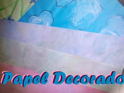 Papel Scrapbook II  [SCRAPBOOK FACIL] Como decorar hojas scrapbook