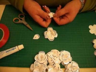 Paper flowers tutorial with Die cut petals from Buzz craft