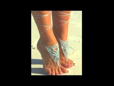 Pretty Feet, Happy Feet in Crochet Barefoot Sandals