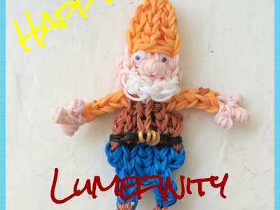 Rainbow Loom Bands Happy : Seven Dwarves charm figure by Lumefinity , how to diy