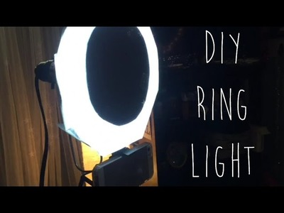 RING LIGHT DIY. Affordable Video Lighting