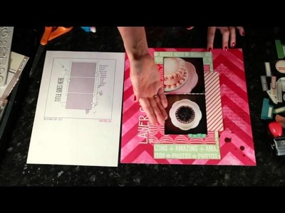 Sketch to Scrapbook Page :: Layer Cake