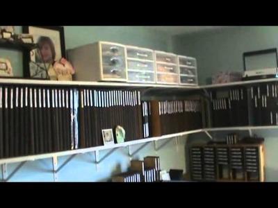 Studio tour. scrapbook room . supply storage and organization tips