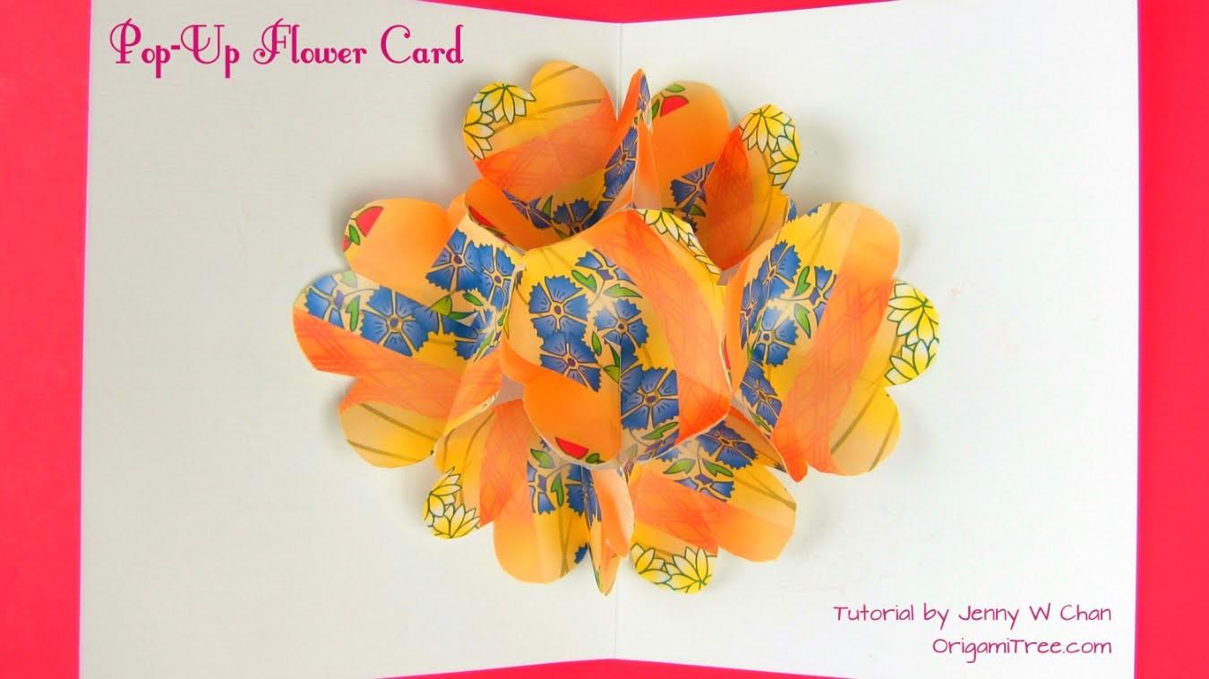 Summer crafts step by step easy flower pop up card paper crafts summer crafts step by step easy flower pop up card paper crafts paper flowers mightylinksfo