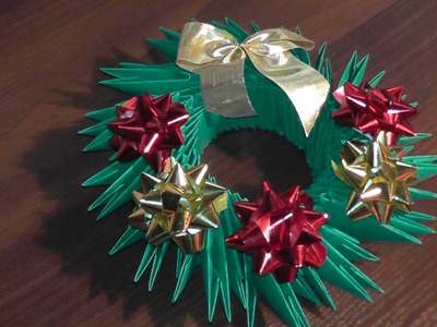 3D origami Christmas wreath tutorial