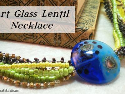 Art Glass Lentil Necklace Tutorial